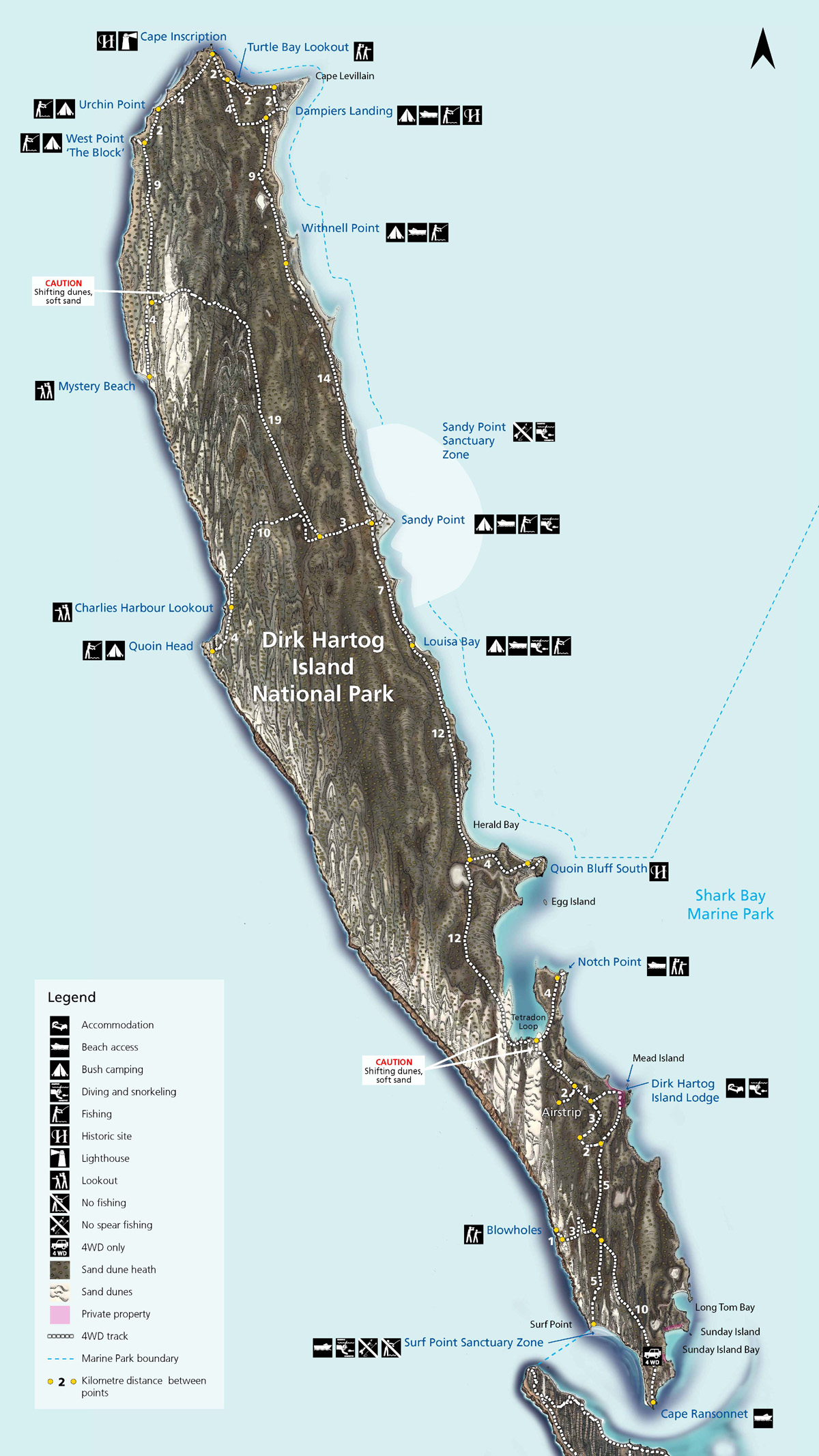 Dirk Hartog Island Fishing Map