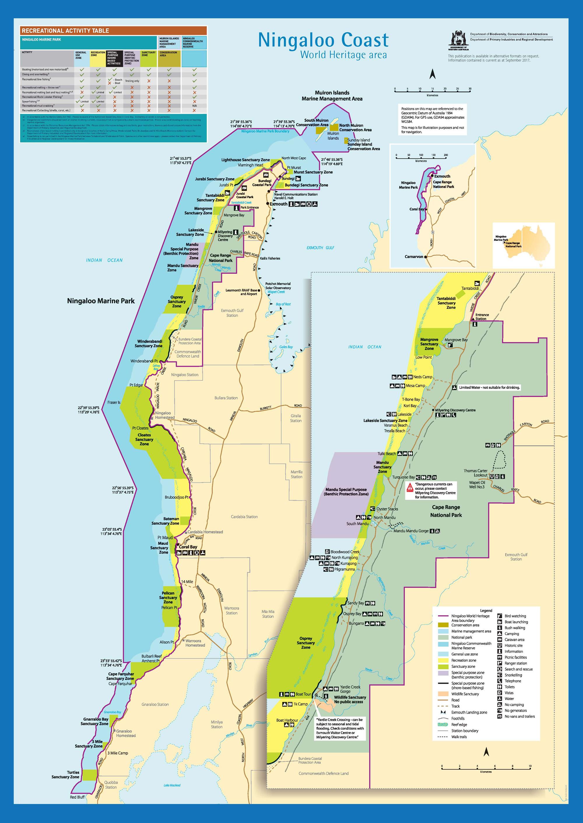 Ningaloo Marine Park Sanctuaries