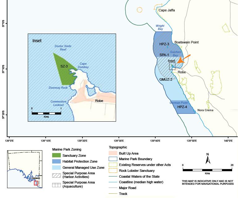 Robe marine park zones