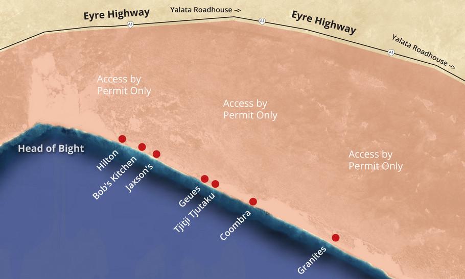 Yalata coastal camps map. Image courtesy Yalata Corporation.