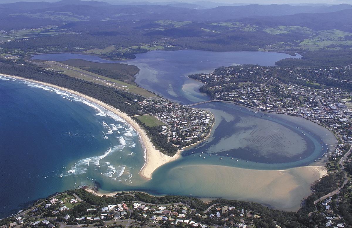 Merimbula Lake. Picture John Lugg, NSW Govt