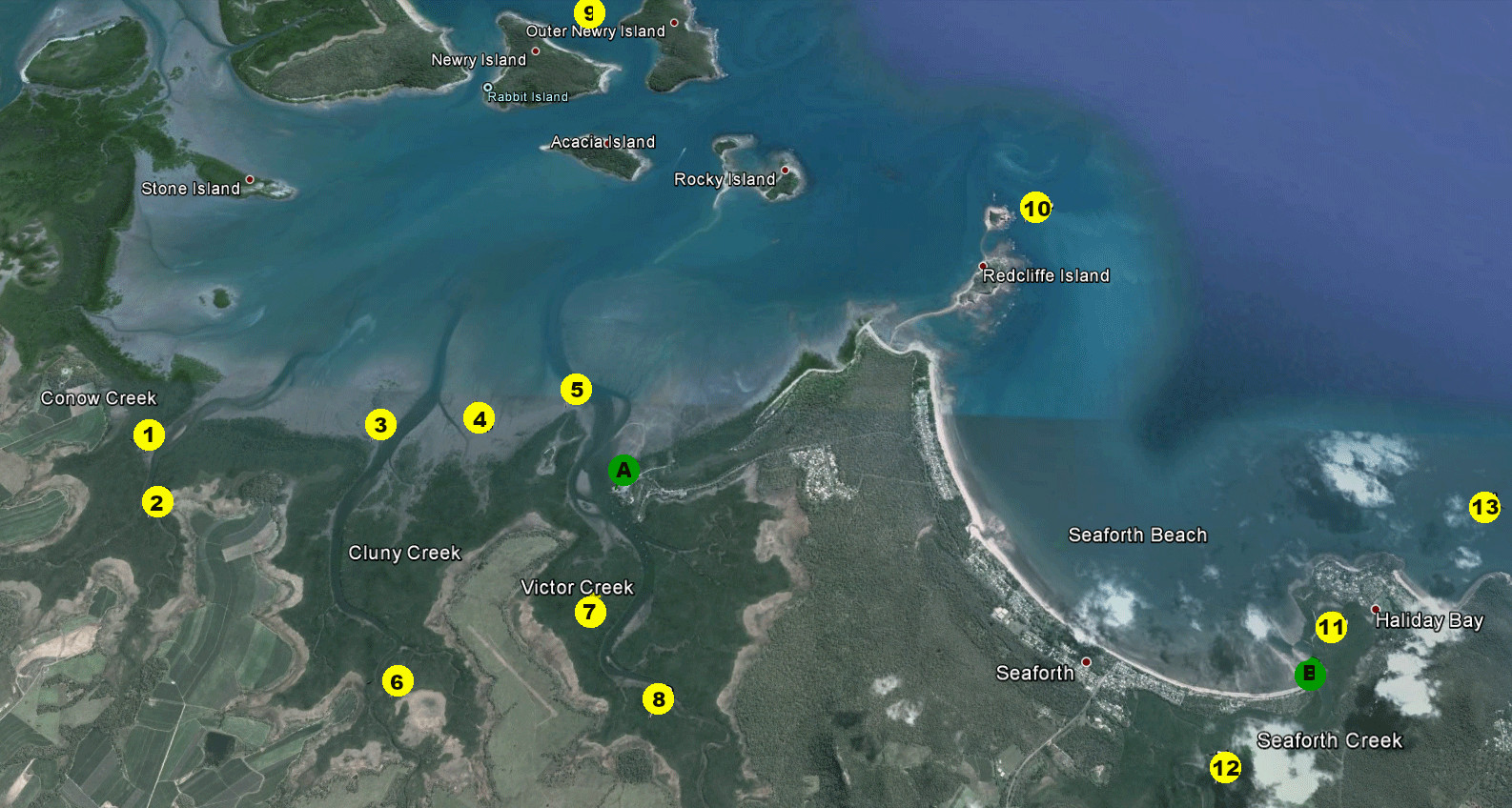 Seaforth fishing spots - see the text