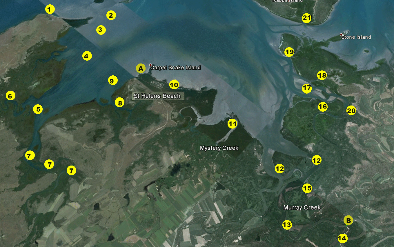 St Helens fishing spots - see the text