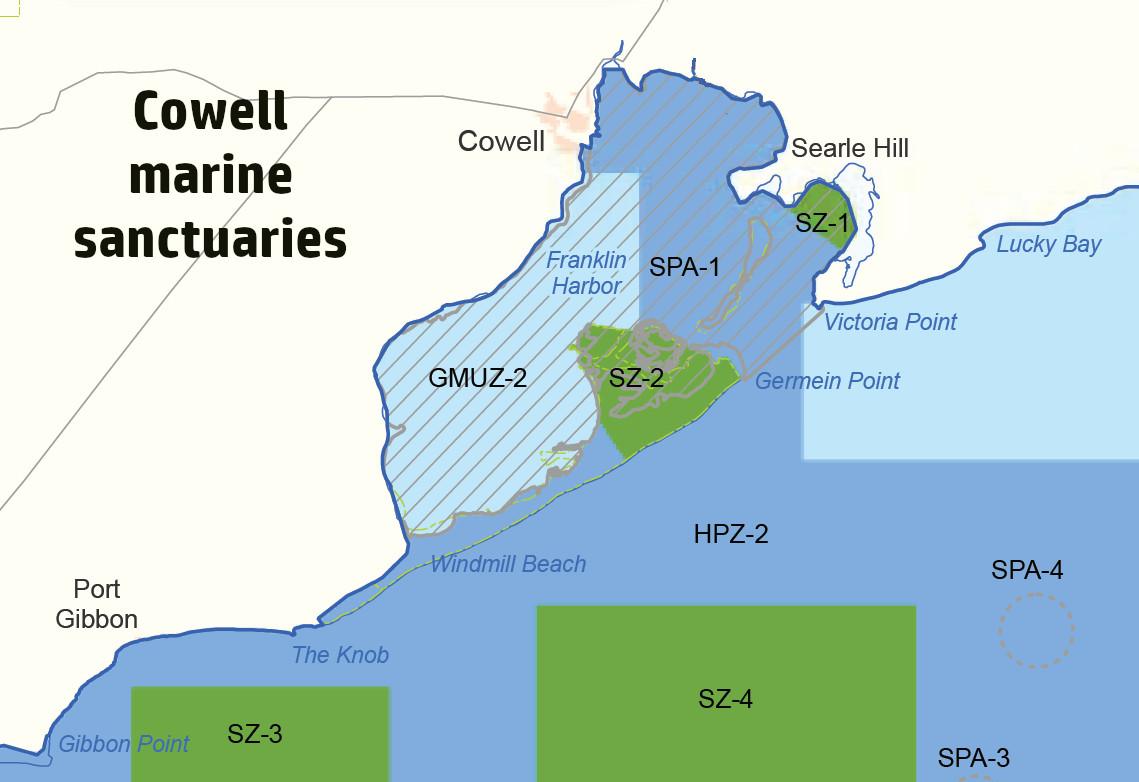 Cowell marine sanctuaries